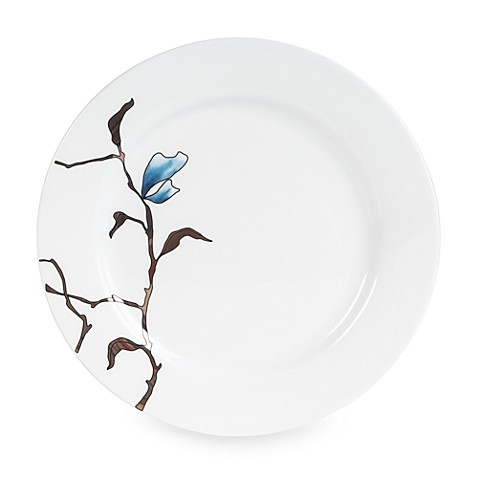 Fitz and Floyd® Nevaeh White Fiore Blue 10 1/2-Inch Dinner Plate