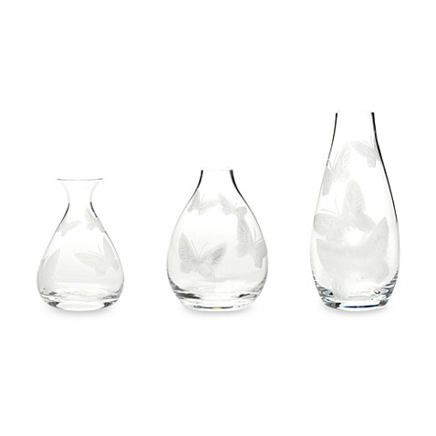 Mikasa® Modern Butterfly Posy Vases (Set of 3)