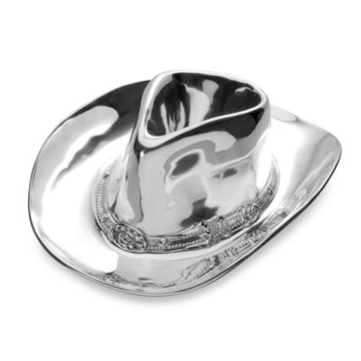 Wilton Armetale® Cowboy Hat Chip and Dip Server