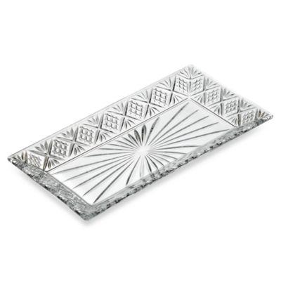Godinger Dublin Crystal 12-Inch Rectangular Tray