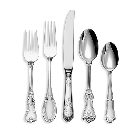 buy wallace 174 hotel lux 77 piece flatware set from bed bath
