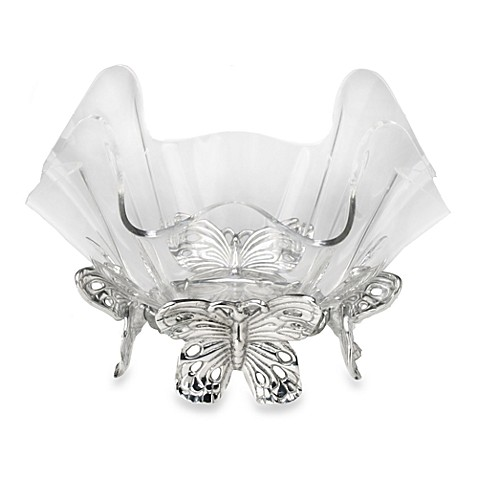 Arthur Court Designs Butterfly Stand with 7-Inch Acrylic Bowl