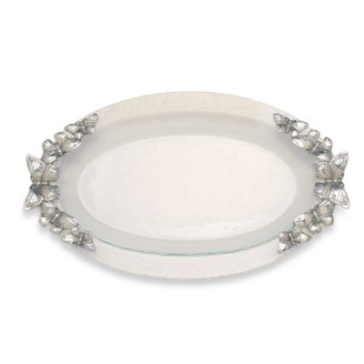 Arthur Court Designs Butterfly 20-Inch Oval Glass Platter