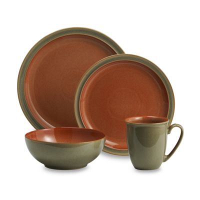 Denby Duets 4-Piece Place Setting in Sage/Paprika