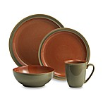 Denby Duets Dinnerware Collection in Sage/Paprika