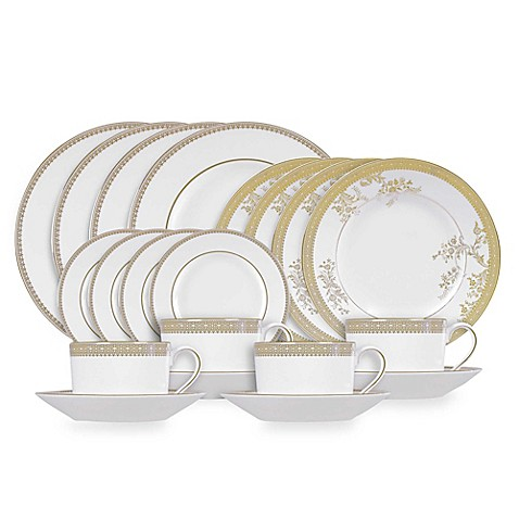 Vera Wang Wedgwood® Lace Gold 20-Piece Dinnerware Set