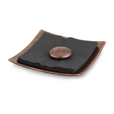 Nambe Heritage Pebble Napkin Holder