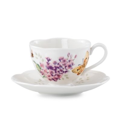 Lenox® Butterfly Meadow® Orange Sulphur Cup and Saucer Set
