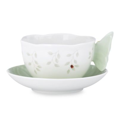 Lenox® Butterfly Meadow® Green Cup and Saucer Set