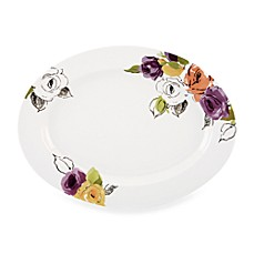 kate spade new york Charcoal Floral 16-Inch Platter