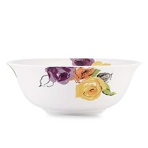 kate spade new york Charcoal Floral 9-Inch Serving Bowl
