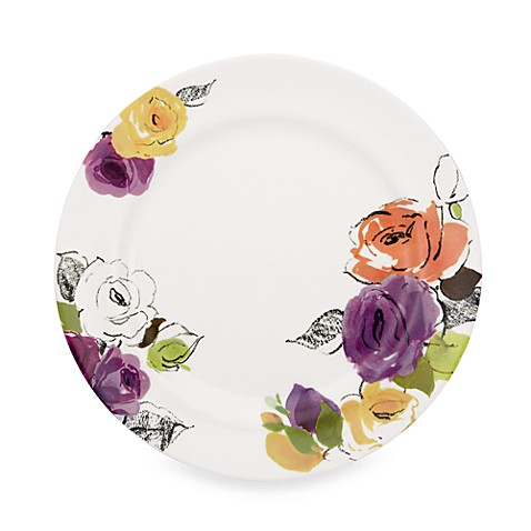kate spade new york Charcoal Floral™ 11-Inch Dinner Plate