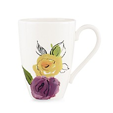 kate spade new york Charcoal Floral 12-Ounce Mug