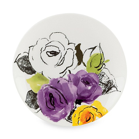 kate spade new york Charcoal Floral Tidbit Plates (Set of 4)