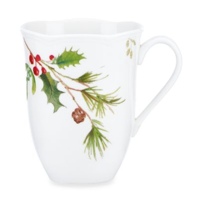 Lenox® Winter Meadow Holly 12-Ounce Mug