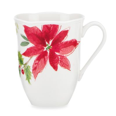 Lenox® Winter Meadow Poinsettia 12-Ounce Mug