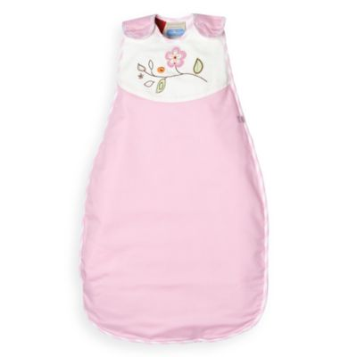 Living Textiles Baby Smart-Dream™ Baby Sleeping Bag w/ Flower Embroidery