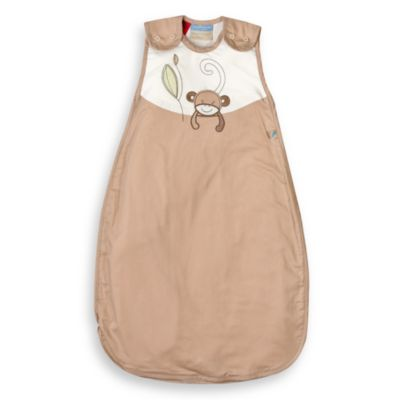 Living Textiles Baby Smart-Dream™ Baby Sleeping Bag w/ Monkey Embroidery