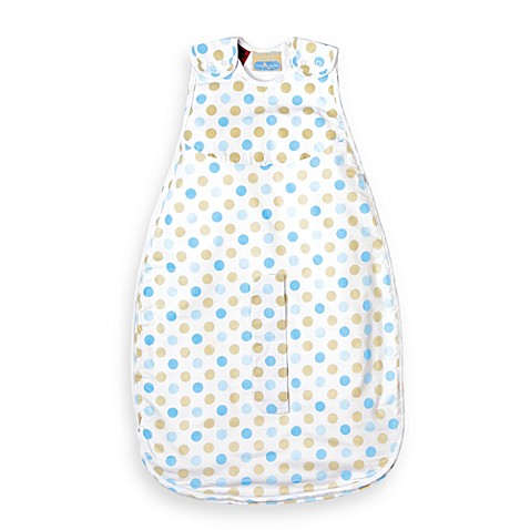 Living Textiles Baby Smart-Dream™ Baby Sleeping Bag with Blue Dots - Size 0-6 Months