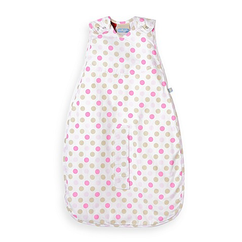 Living Textiles Baby Smart-Dream™ Baby Sleeping Bag w/ Pink Dots