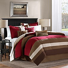 Loreto 6-7 Piece Comforter Set in Red