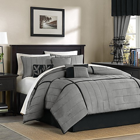 Mesa Grey Twin Complete Bed Ensemble