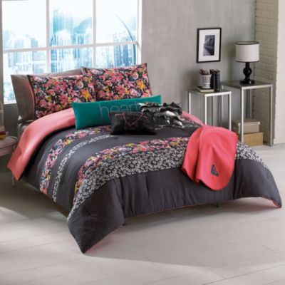 Roxy Samantha Floral Reversible Twin/Twin Extra Long Bed Set