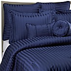 Wamsutta® 500 Damask Stripe Comforter Set in Navy