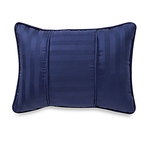 Navy Throw Pillows For Bed : Buy Wamsutta Damask Stripe Breakfast Throw Pillow in Navy from Bed Bath & Beyond