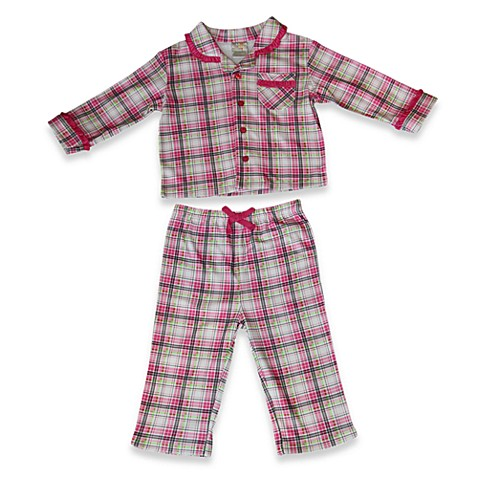 Absorba® 2-Piece Plaid Pajamas in Pink