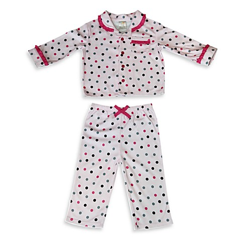 Absorba® Pink Polka Dot Pajamas (2-Piece Set) - 12 Months