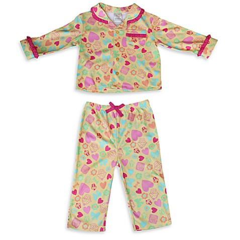 Absorba® Butterflies and Hearts 2-Piece Pajama
