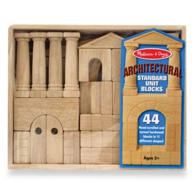 Melissa and Doug® Architectural Standard Unit Wooden Blocks