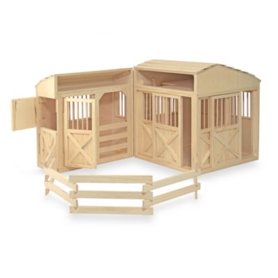Playsets > Melissa and Doug® Folding Horse Stable