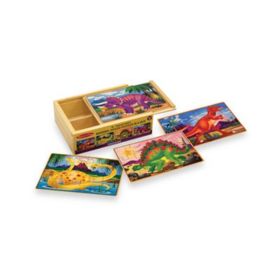 Melissa & Doug® Dinosaur Jigsaw Puzzles in a Box (Set of 4 Puzzles)