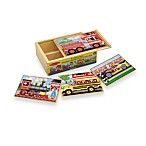 Melissa & Doug® Vehicles Jigsaw Puzzles In A Box (Set of 4 Puzzles)