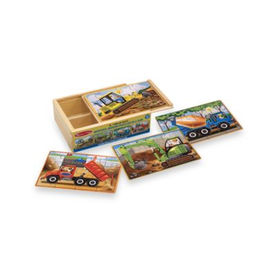 Melissa & Doug® Construction Jigsaw Puzzles in a Box