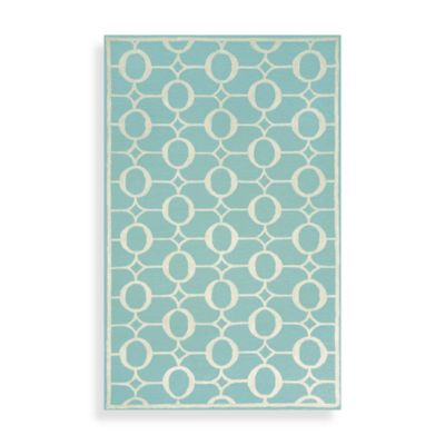TransOcean Spello Arabesque Area Rug in Aqua
