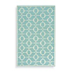 Spello Arabesque Area Rug in Aqua