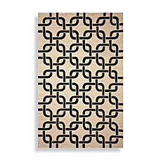 Spello Chains Area Rugs in Black
