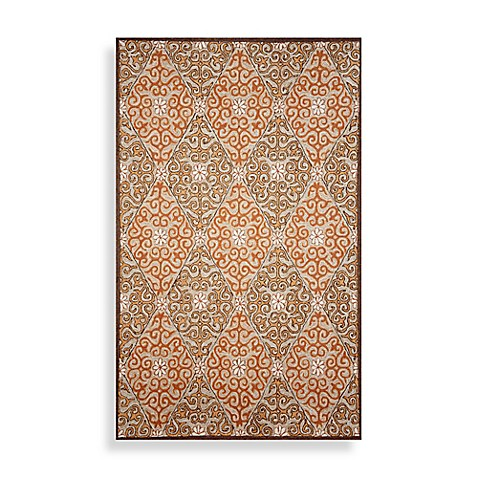 Ravella Lakai Diamond Coral Area Rug - 8' Square