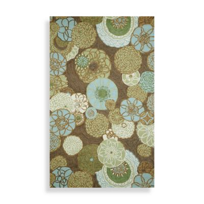 Trans-Ocean Ravella Disco Driftwood 24-Inch x 96-Inch Runner Rug in Driftwood