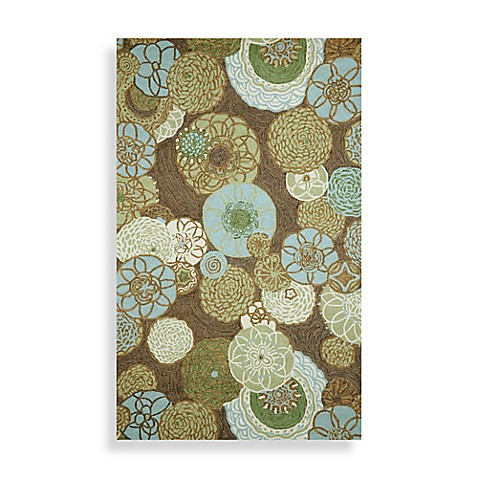 Trans-Ocean Ravella Disco Area Rug in Driftwood