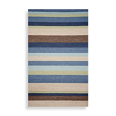 Ravella Stripe 2-Foot x 3-Foot Area Rug in Denim