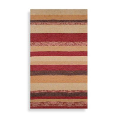 Ravella Stripe 8-Foot Square Area Rug in Red
