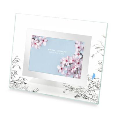 Bluebird Mirrored 4-Inch x 6-Inch Frame
