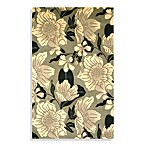 KAS Catalina Dream Flora Area Rugs in Black/White