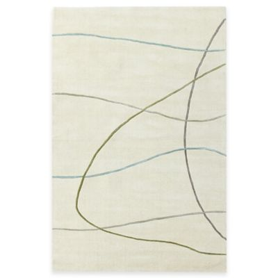KAS Transitions Visions 5-Foot x 8-Foot Area Rug in Ivory