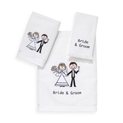 Avanti Bride and Groom Hand Towel