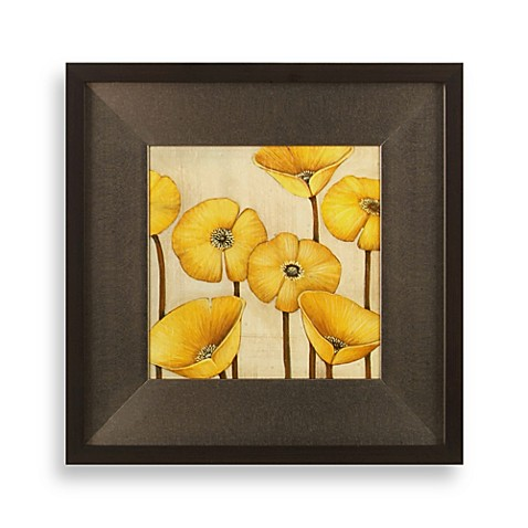 Poppy Wall Art in Yellow
